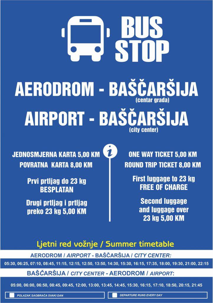 Расписание автобуса из аэропорта Сараево