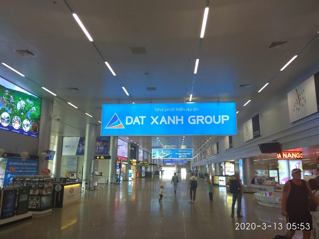 Зона прилета, международный аэропорт Дананг