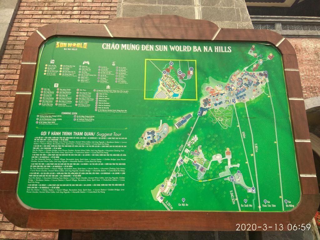"""Карта парка отдыха """"Ba Na Hills"""""""