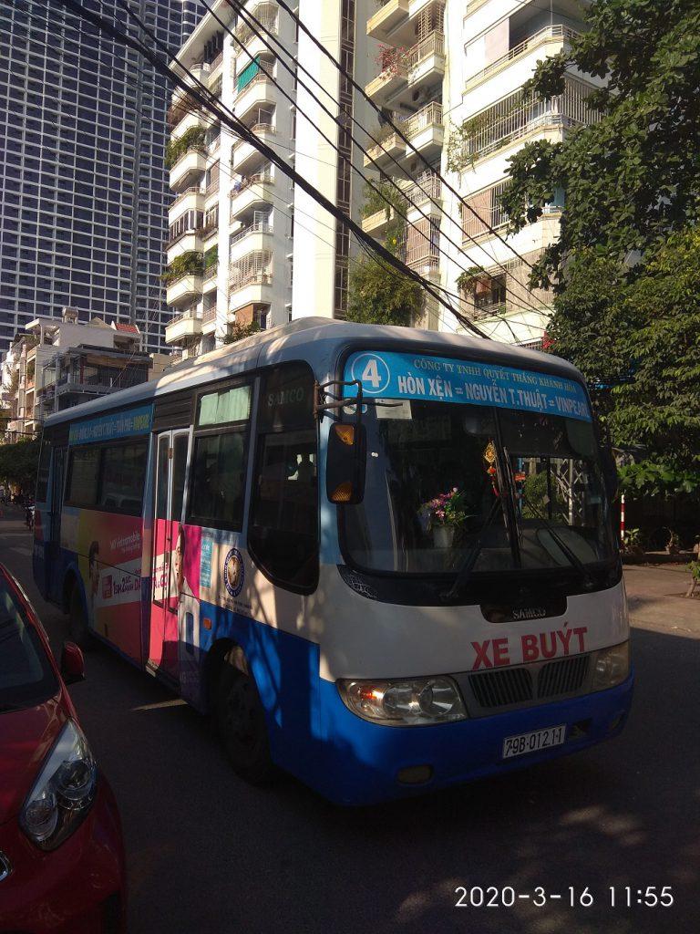 Как добраться в Винперл из Нячанга, автобус номер 4