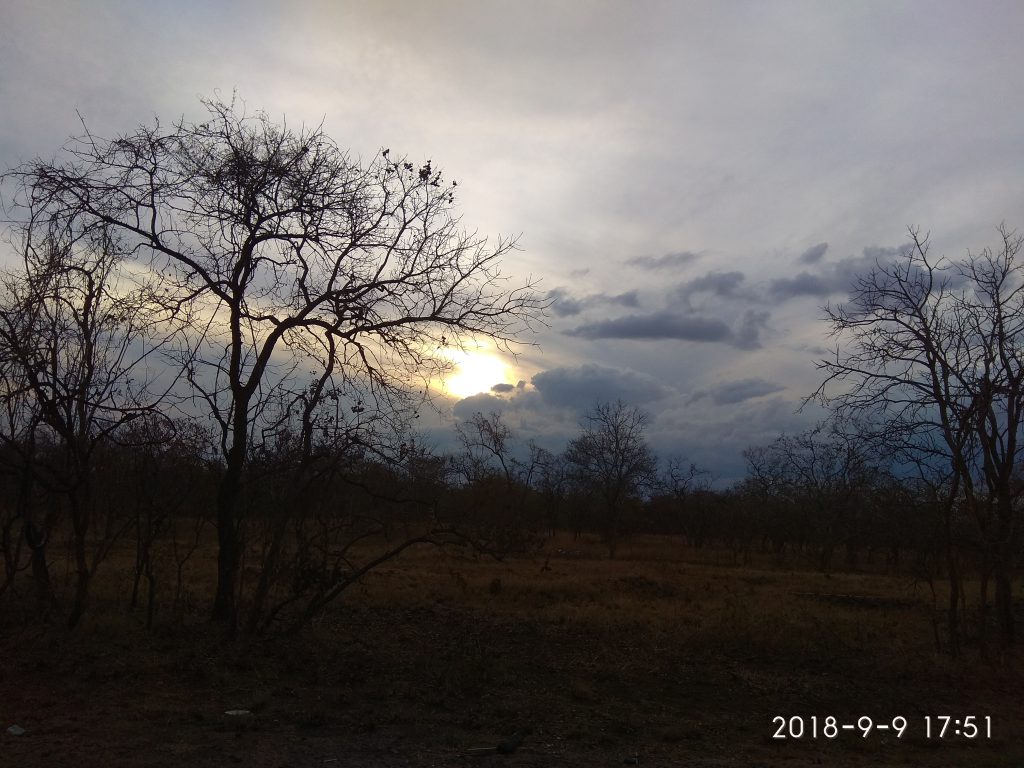 Закат в Танзании.