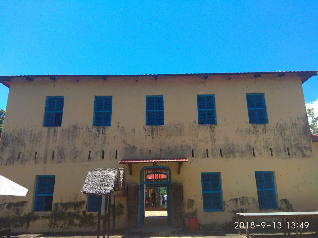 Здание тюрьмы на острове черепах.