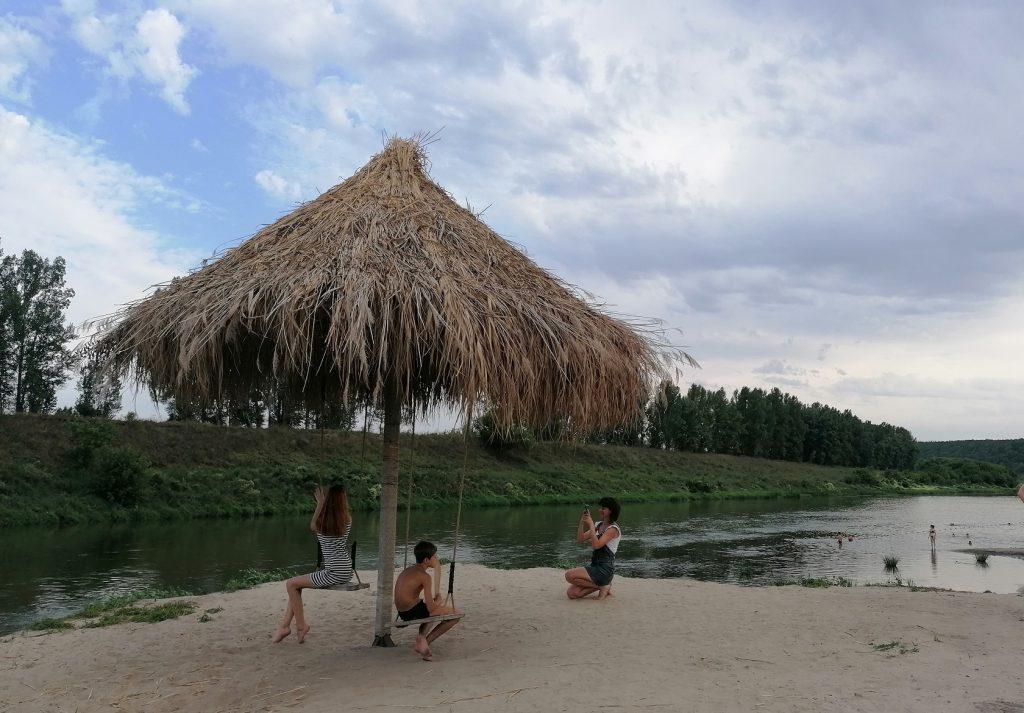 Кудыкина гора, пляж на реке Дон